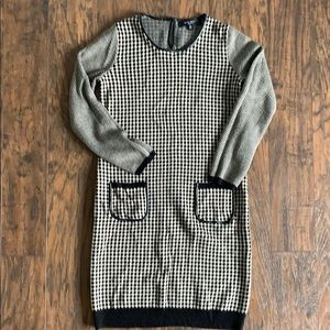 Checked knit dress with pockets Nine West